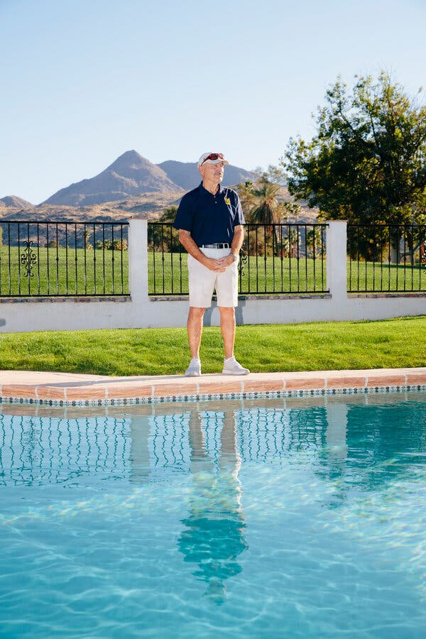 """Mike Tracy's backyard abuts the course at Tahquitz Creek.""""We have a beautiful view of the golf course and the mountains on both sides,"""" he said."""